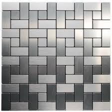 kitchen backsplash stickers china mosaic wiredrawing silver metallic wall tiles sticker diy