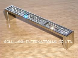 Glass Kitchen Cabinet Hardware 128mm Free Shipping K9 Crystal Glass Door Pull Dawer Handle