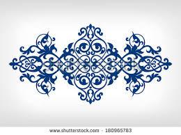 vector vintage baroque calligraphy border frame card ornament