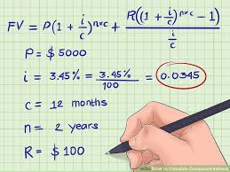 how to calculate compound interest 15 steps with pictures