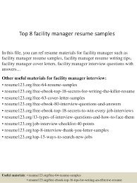 top 8 facility manager resume samples 1 638 jpg cb u003d1429945653