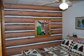 Cabin Interior Paint Colors by Log Cabin Interior Wall Covering Design And Ideas
