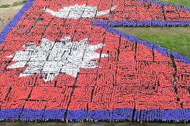 Pics Of Nepal Flag Nepalese Attempt World U0027s Largest Human Flag Record