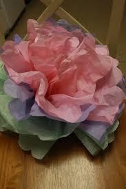easy tissue paper flower tutorial