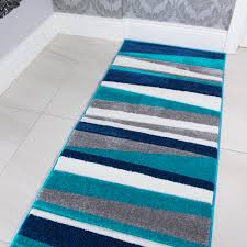 Navy Blue Runner Rug Navy Teal Blue U0026 Grey Striped Hall Runner Rug Rio Kukoon