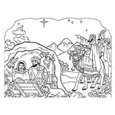 10 free printable nativity coloring pages