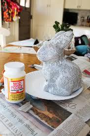 paper mache bunny paper mache bunny 2818 average but inspired