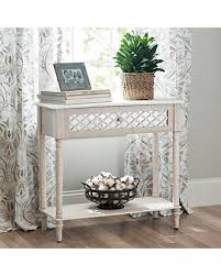 don u0027t miss this deal distressed white lattice console table