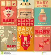 baby shower poster baby shower posters stock illustration image 44255461