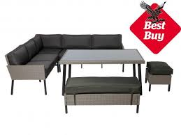 Weatherproof Patio Furniture Sets by Outdoor Furniture Sectional Sofa 8pc Patio Conversation Set Dark