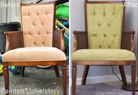Fabric Paint Spray Upholstery My Thrift Store Find Painted Chair Upholstery Before After