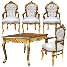Bequeme Esszimmerst Le Leder Stühle Esszimmer Leder Esstisch Barockmöbel Sonderpreis Set 5