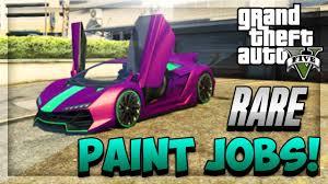 gta 5 online insane rare paint jobs car customization guide