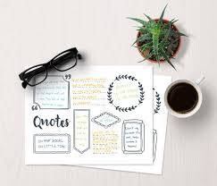 printable page of quotes bujo quote template bullet journal quotes bullet journal