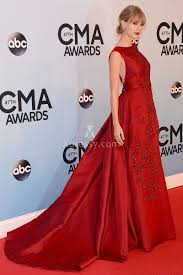 taylor swift red carpet dress cma awards beaded floral embroidered