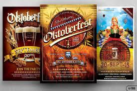 halloween party flyers templates oktoberfest flyer templates for photoshop bundle beer party flyers