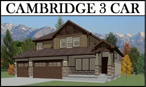 cambridge 3 car 4 bed 2112 2 story u2013 utah home design