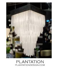 Square Chandelier Glacier Selenite Chandelier Square Plantation