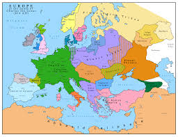Country Map Of Europe by Map Of Europe After The Death Of Charles The Great 814 Ad
