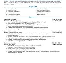 Warehouse Manager Resume Templates Warehouse Resume Template Cv Resume Ideas