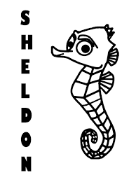 sheldon finding nemo craft coloring mind