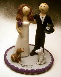 cake topper with dog wedding cake topper for and groom with pet dogs
