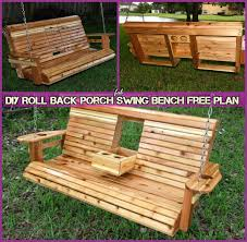Free Plans For Outdoor Furniture by Roll Back Porch Swing Bench Free Plan
