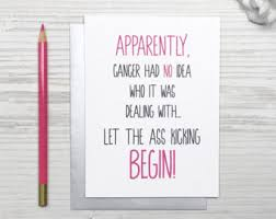 cancer cards get well card kick cancer in the cancer