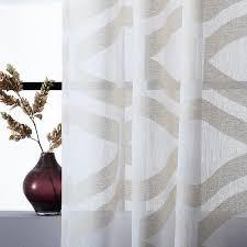 Sheer Gray Curtains Semi Sheer Clipped Jacquard Curtain West Elm