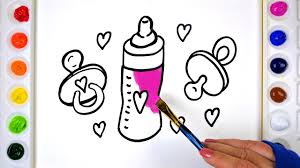 baby coloring pages for kids learn drawing coloring and painting