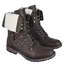 s fold combat boots size 12 s fold fur combat boot 1075 13 brown shiekh shoes