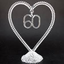 amazon com 60th anniversary wedding cake topper hand blown glass
