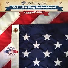 United Staes Flag American Flag 3x5 Foot Embroidered Stars U0026 Sewn Stripes Usa