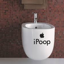 cheap waterproof creative i sticker for bathroom toilet seat