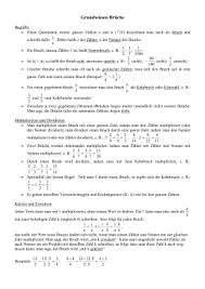 mathe brüche klasse 6 grundwissen mathematik klasse 6 am mtg