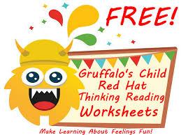 free gruffalo u0027s child 3 yellow thinking hat worksheets make