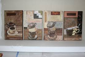 toile deco cuisine tableau peinture café cuisine tasses deco ensemble tasses