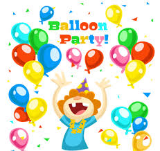 colorful balloons and birthday cards for children vectors free
