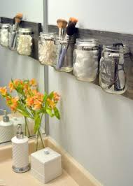 Mason Jar Bathroom Storage by Creative Bathroom Storage Ideas Rectangular Wall Mirror Frameless