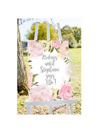 Wedding Countdown Wedding Countdown Sign Countdown To Wedding Sign Shower Count