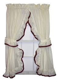 Ruffled Kitchen Curtains by Ruffled Priscilla Curtains U0026 Country Ruffled Curtains Window Toppers
