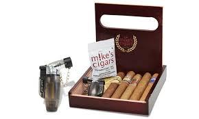 cigar gift set mike s cigars 5 pack gift set groupon goods