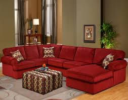 Microfiber Sectional Sofa With Chaise by Red Microfiber Sectionals Highlight Your Living Room Homesfeed