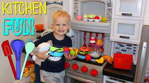 Kitchen Sets For Kids Step 2 Step2 Grand Luxe Kitchen Playtime Review Youtube