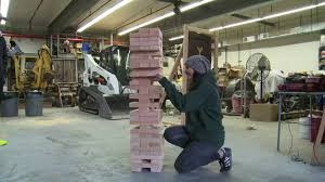 How To Make Backyard Jenga by How To Build And Play A Life Size Jenga Game Youtube