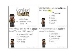context clues packet using tier vocabulary by nicole allison tpt
