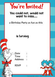 dr seuss birthday invitations free printable dr seuss 1st birthday invitation template drevio