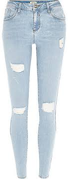 light blue skinny jeans womens river island light wash ripped amelie superskinny jeans where to