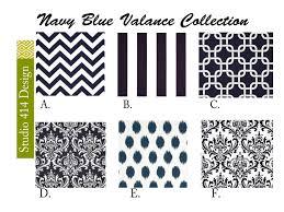 navy blue valance navy blue valence navy blue window