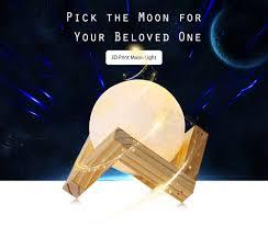 uk 3d magical led luna night light moon lamp desk usb charging